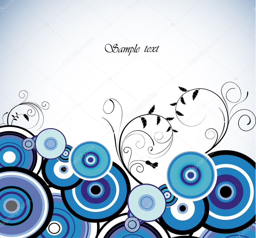 Romantic Blue flower. Floral background. Vector illustration — Vektorgrafik #3816569