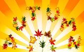 Autumn background. Vector — Stock Vector