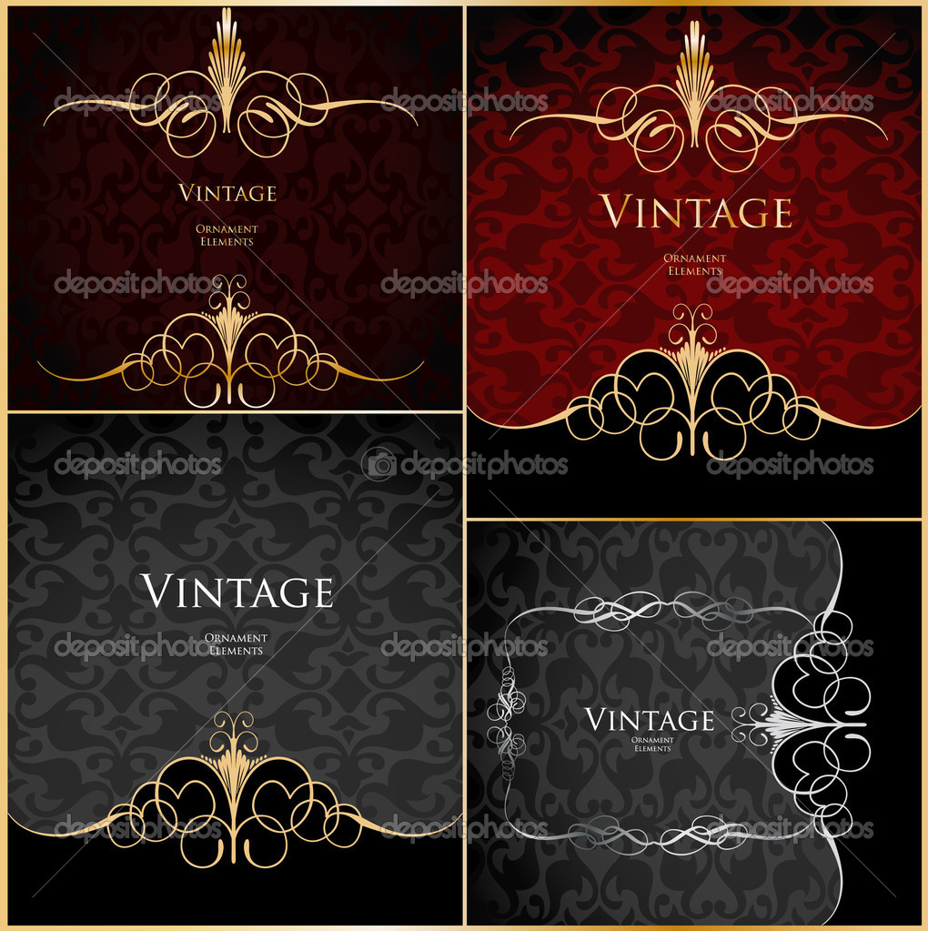 Vintage stylized floral red background. Vector illustration — Image vectorielle #3886588
