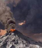 Erupting of volcano — Stock Photo