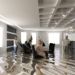 Flooding office — Stock Photo