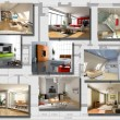 Stock Photo: Modern interior image set