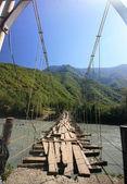 The rope bridge — Stock Photo
