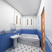 Moderne badkamer interieur — Stockfoto