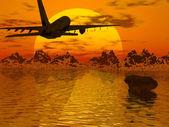 Silhouette de l'avion — Photo