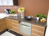 The modern kitchen detail — Stock Photo