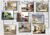 Modern interior image set — Stockfoto