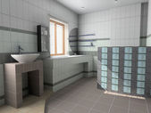 Modern bathroom interior — Foto Stock