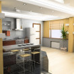 Modern kitchen interior — Stock Photo #3353060