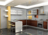 Modern kitchen interior — Stock Photo