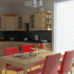 Modern kitchen interior — Stock Photo #3463492