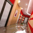 The flooding interior — Stock Photo