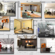 Stock Photo: Modern office interior image set