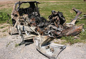 Burnt car — Stockfoto