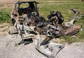 烧的车 — 图库照片