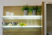 The modern kitchen details — 图库照片