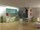 современная кухня — Стоковое фото