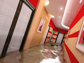 The flooding interior — Stock Photo