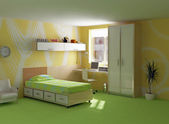Childroom modern interior — Stock Photo