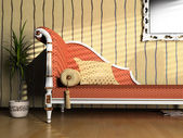 Classic style sofa — Stock Photo