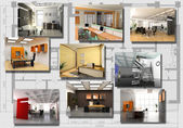 Modern office interior image set — Stock Photo