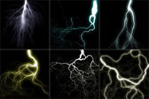 Lightning set — Stock Photo