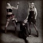 Three bizarre goths studio shoot — Stock Photo #3585629