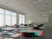 Stereo modern classroom — Stock Photo