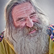 Laughing old man - Stock Photo