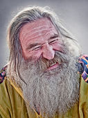 Laughing old man — Stock Photo
