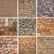 Decorative stones texture set — Stock Photo