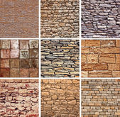 Decorative stones texture set — Stock Photo