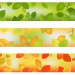 Three Season Backgrounds. Vector — Stock Vector