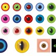 Multicolored Eyes - Design elements - Stock Vector