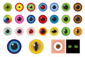 Multicolored Eyes - Design elements — Stock Vector