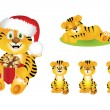 Royalty-Free Stock Vector Image: Cute Cartoon Tiger
