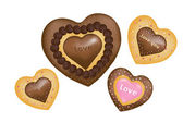 Chocolate Cookies (Hearts shape) — Stock Vector