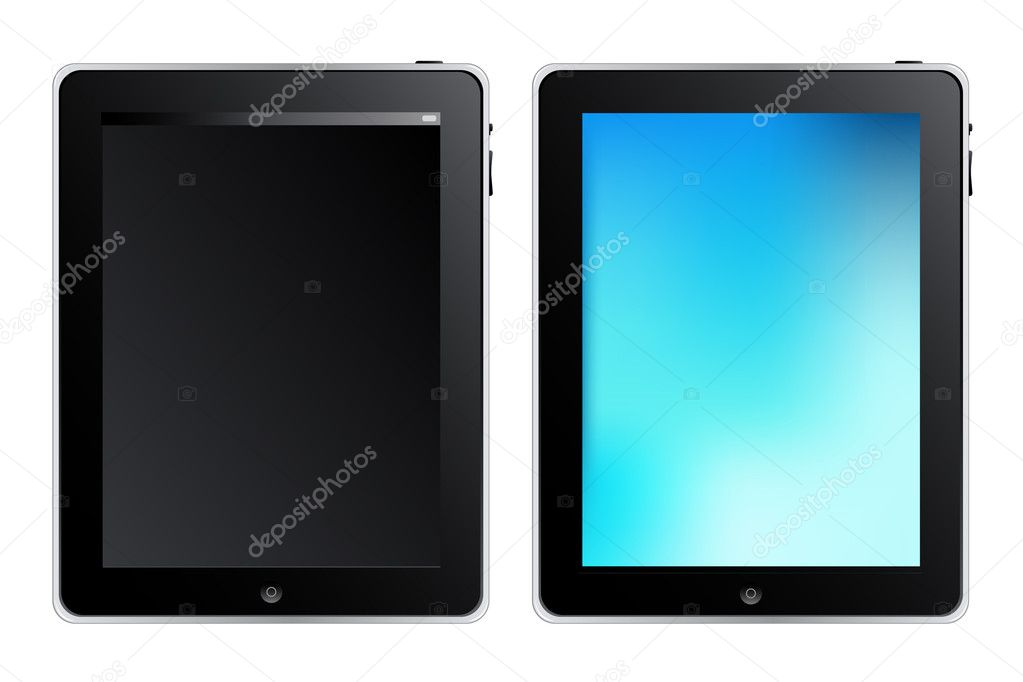 Tablet Touch PC Or Mobile Device, Isolated On White  Image vectorielle #2834440