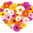Royalty-Free Stock Vector Image: Heart Made Of Colorful Daisies