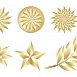 Golden Set — Stock Vector