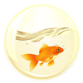 Ball With GoldFish — Stock Vector