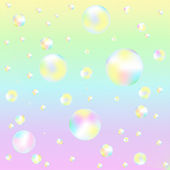 Background With Soap Bubbles — Stock Vector