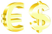 Dollar And Euro Signs — Stock Vector