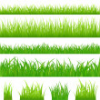 4 backgrounds of green grass — Imagen vectorial