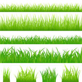 4 backgrounds of green grass — Stock Vector
