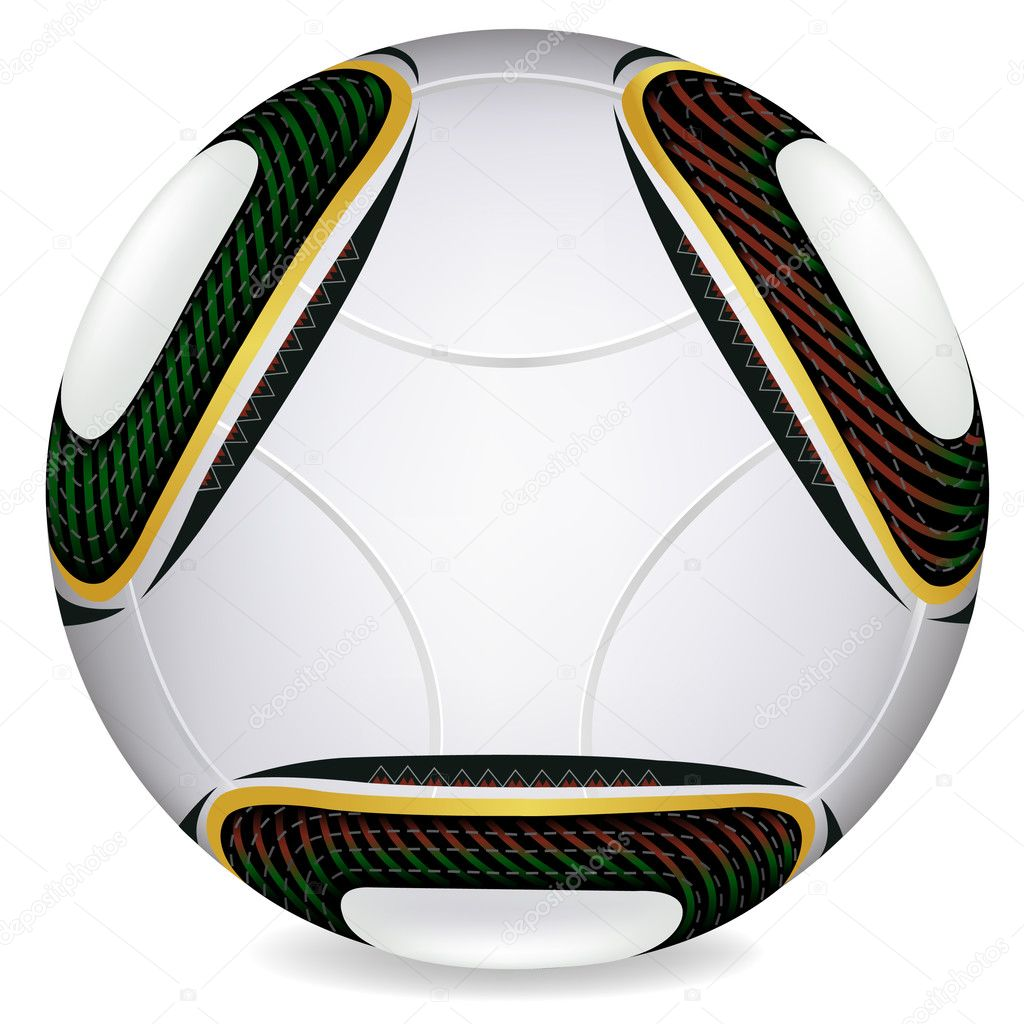 World Cup 2010 Jabulani soccer ball In Vector — Stock ...