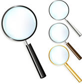 Set Of Magnifiers — Stock Vector