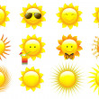 Royalty-Free Stock Vector Image: Vector Set Suns
