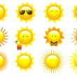 Vector Set Suns — Stock Vector #3446250