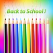 Back To School Vector Design — Stock Vector